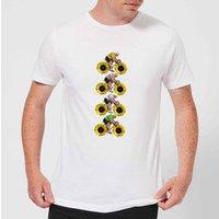 Mark Fairhurst Tournesol Riders Men's T-Shirt - White - XL - White