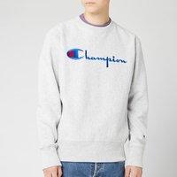 Champion Men's Big Script Sweatshirt - Grey Marl - L