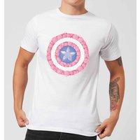 Marvel Captain America Flower Shield Men's T-Shirt - White - XS - White