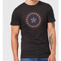 Marvel Captain America Oriental Shield Men's T-Shirt - Black - 3XL - Black