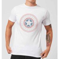 Marvel Captain America Oriental Shield Men's T-Shirt - White - M