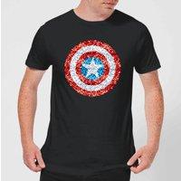 Marvel Captain America Pixelated Shield Men's T-Shirt - Black - XS - Black
