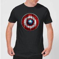 Marvel Captain America Wooden Shield Men's T-Shirt - Black - M - Black