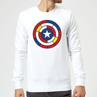 Marvel Captain America Stained Glass Shield Sweatshirt - White - XXL - White - Glass Gifts