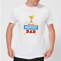 World's Greatest Dad With Trophy Men's T-Shirt - White - XL - White