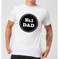 No.1 Dad Mens T-Shirt - White - XXL - White