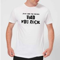 Just For The Record, Dad You Rock Men's T-Shirt - White - XXL - White - Rock Gifts