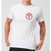 Floral Pattern Peace Symbol Men's T-Shirt - White - XS - White