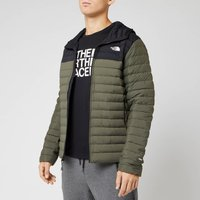 The North Face Mens Stretch Down Hooded Jacket - New Taupe Green - XL