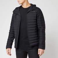 The North Face Mens Stretch Down Hooded Jacket - TNF Black - XXL