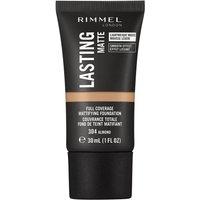Rimmel London Lasting Matte Foundation 30ml (Various Shades) - 304 Almond
