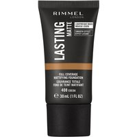 Rimmel London Lasting Matte Foundation 30ml (Various Shades) - 408 Maple