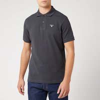 Barbour Mens Tartan Pique Polo Shirt - Navy/Dress - XL