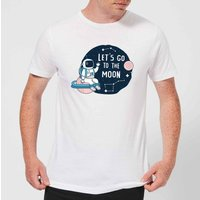 Lets Go To The Moon Mens T-Shirt - White - S - White