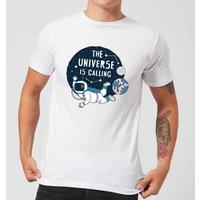 The Universe Is Calling Men's T-Shirt - White - 4XL - White