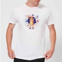 Blast Off Men's T-Shirt - White - XS - White