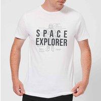 Space Explorer Schematic Men's T-Shirt - White - 5XL - White