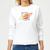 Saturn Women's Sweatshirt - White - S - White