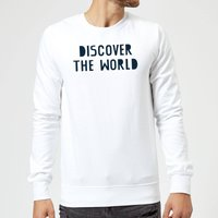 Discover The World Sweatshirt - White - M - White
