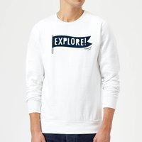 Explore! Sweatshirt - White - M - White