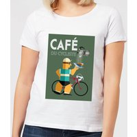 Mark Fairhurst Cafe Du Cycliste Women's T-Shirt - White - XL - White
