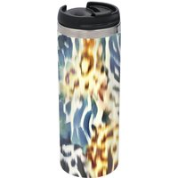 Colourful Animal Print Stainless Steel Travel Mug - Metallic Finish
