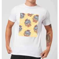 Cassette Tape Love Pattern Mens T-Shirt - White - L - White