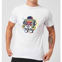 Cassette Tape Love Character Men's T-Shirt - White - 5XL - White