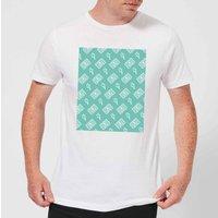 Cassette Tape Pattern Green Men's T-Shirt - White - M - White