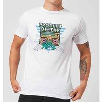 Product Of The 90's Boom Box Men's T-Shirt - White - XL - White