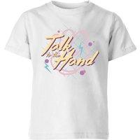 Talk To The Hand Kids' T-Shirt - White - 11-12 Years - White
