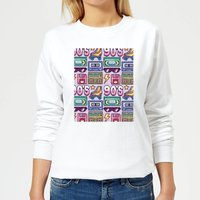 90's Product Tiled Pattern Women's Sweatshirt - White - XL - White