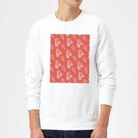 Roller Skate Pattern Red Sweatshirt - White - M - White - Red Gifts