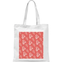 Roller Skate Pattern Red Tote Bag - White - Red Gifts