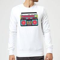 Colourful Boombox Sweatshirt - White - XL - White