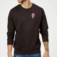 Small Lightning Bolt Sweatshirt - Black - L - Black