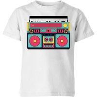 Colourful Boombox Kids' T-Shirt - White - 5-6 Years - White