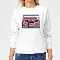 Colourful Boombox Women's Sweatshirt - White - XL - White