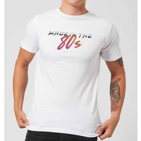 Made In The 80s Gradient Men's T-Shirt - White - XS - White