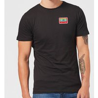Small Cassette Tape Mens T-Shirt - Black - S - Black