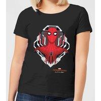 Spider-Man Far From Home Web Tech Badge Womens T-Shirt - Black - M - Black