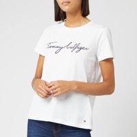 Tommy Hilfiger Women's Heritage Crewneck Graphic T-Shirt - Classic White - L