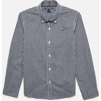 Tommy Hilfiger Boys Long Sleeve Gingham Shirt - Sky Captain - 8 Years