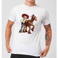 Toy Story 4 Jessie And Bullseye Men's T-Shirt - White - XS - White