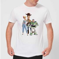 Toy Story 4 Woody Buzz And Bo Men's T-Shirt - White - L - White