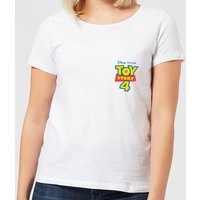 Toy Story 4 Pocket Logo Women's T-Shirt - White - S - White