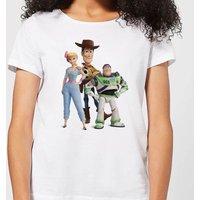 Toy Story 4 Woody Buzz And Bo Women's T-Shirt - White - XL - White