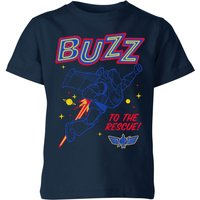 Toy Story 4 Buzz To The Rescue Kids' T-Shirt - Navy - 9-10 Years - Navy