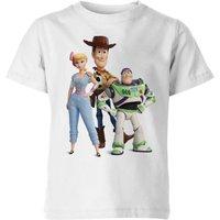Toy Story 4 Woody Buzz And Bo Kids' T-Shirt - White - 11-12 Years - White