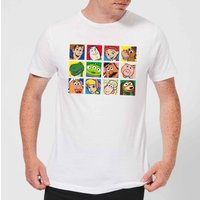 Disney Toy Story Face Collage Men's T-Shirt - White - 4XL - White